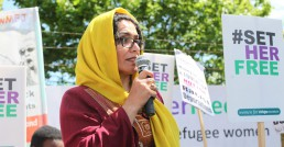 Women for Refugee Women Campaign Protests At Yarls Wood