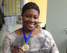 Women for Refugee Women News Carine Wins Gold in Manchester