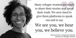 Women for Refugee Women News Remembering Refugee Women When Rallying Behind Timesup