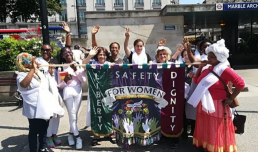 Women for Refugee Women Processions Living Artwork